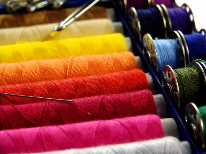 Yarn Thread Sew Thread Spool Colorful wallpaper