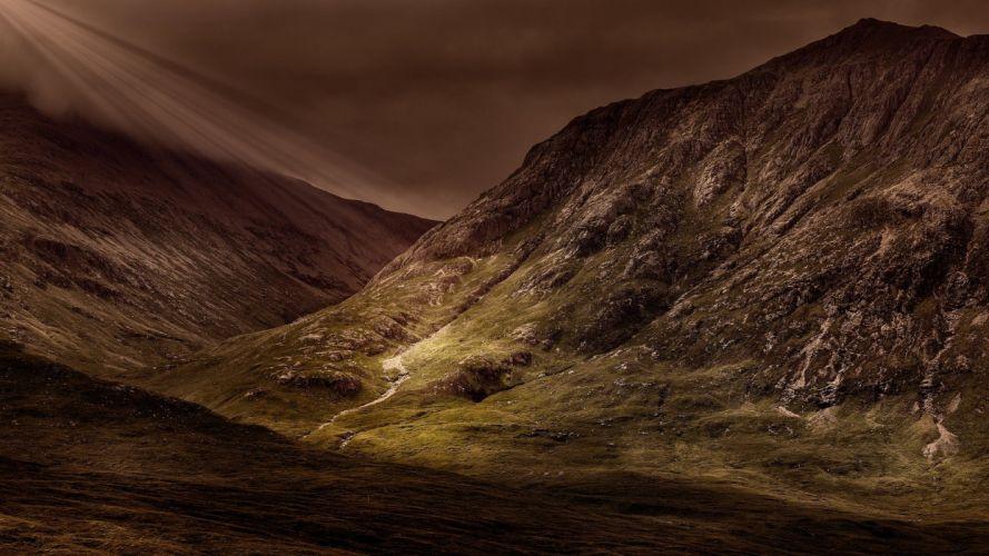 Mountains Panorama Landscape Massif wallpaper