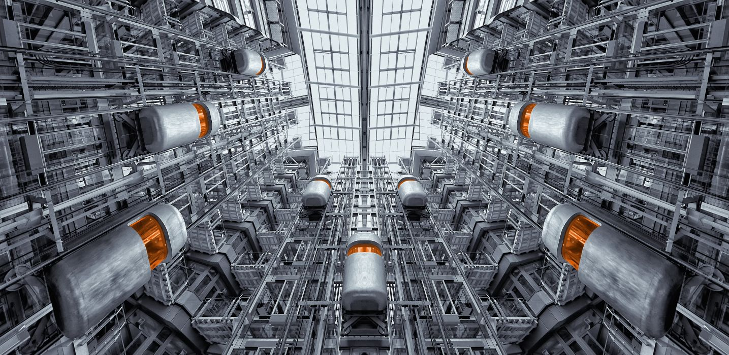 Elevator Berlin Ludwig Erhard Haus Architecture wallpaper