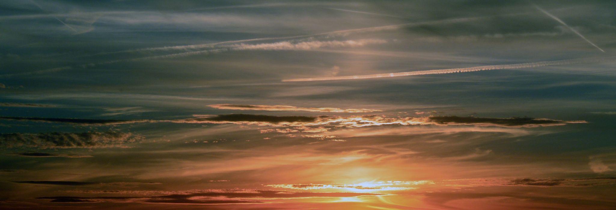 Sunset Sky Clouds Abendstimmung wallpaper