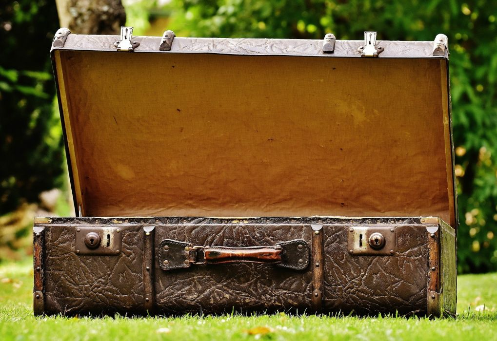 Luggage Antique Leather Old Suitcase wallpaper
