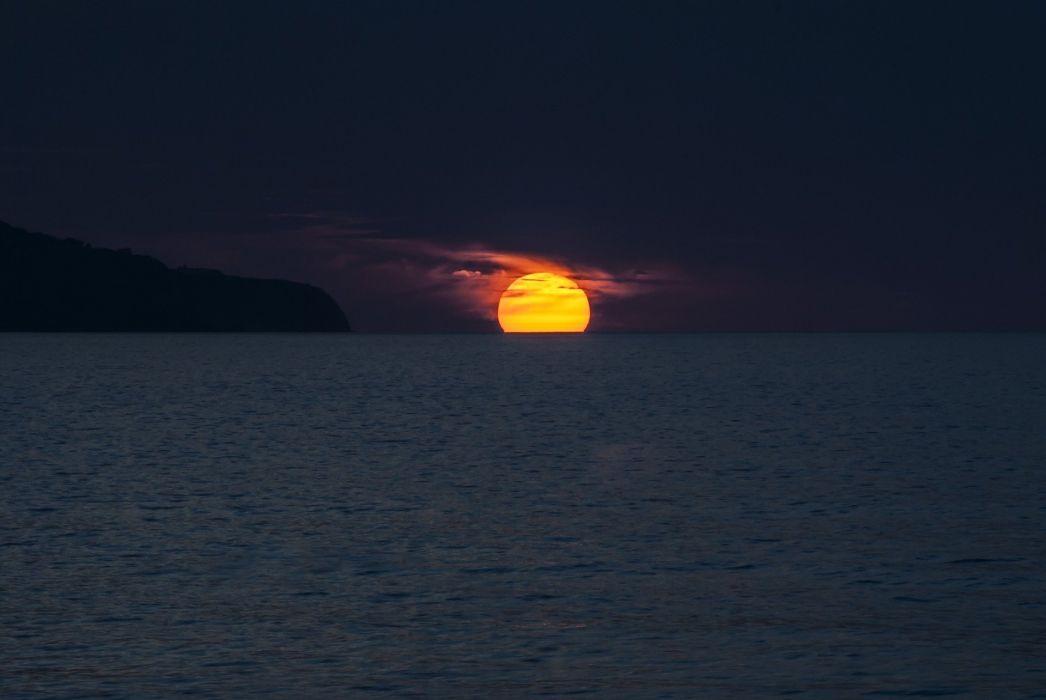 Sunset Ocean Azores Portugal Sol wallpaper