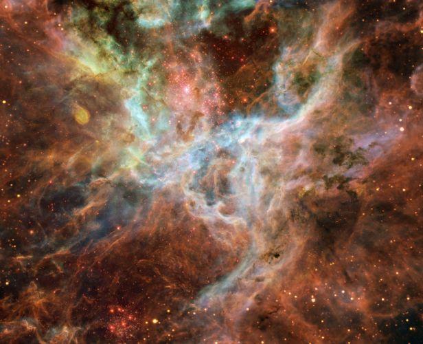 Tarantula Nebula Central Portion Doradus Ngc 2070 space wallpaper