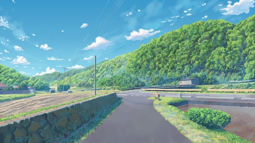 building clouds fateline alpha grass landscape nobody original scenic sky tree wallpaper