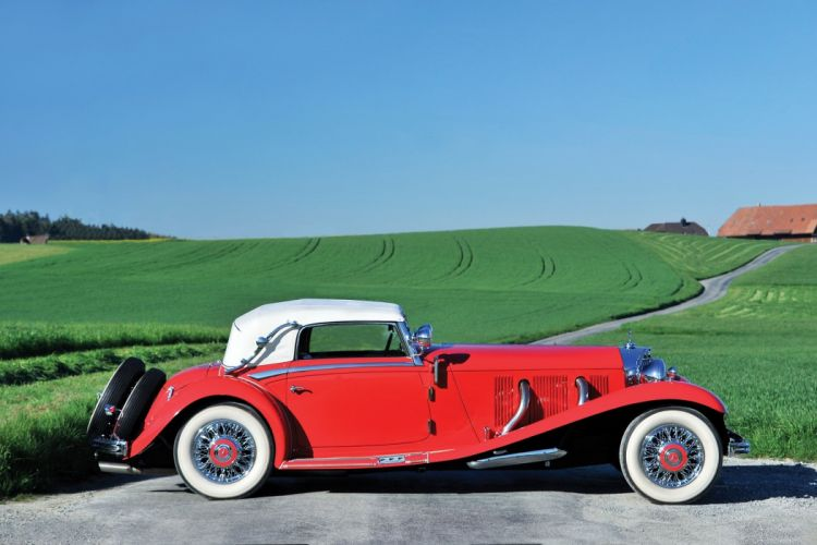Mercedes Benz 500K Cabriolet (W29) cars classic red 1934 wallpaper