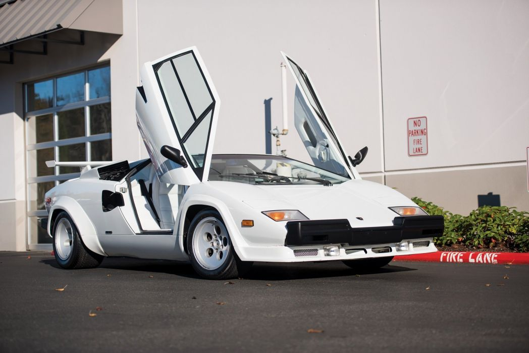 Lamborghini Countach Lp5000s Quattrovalvole Us Version White 1985