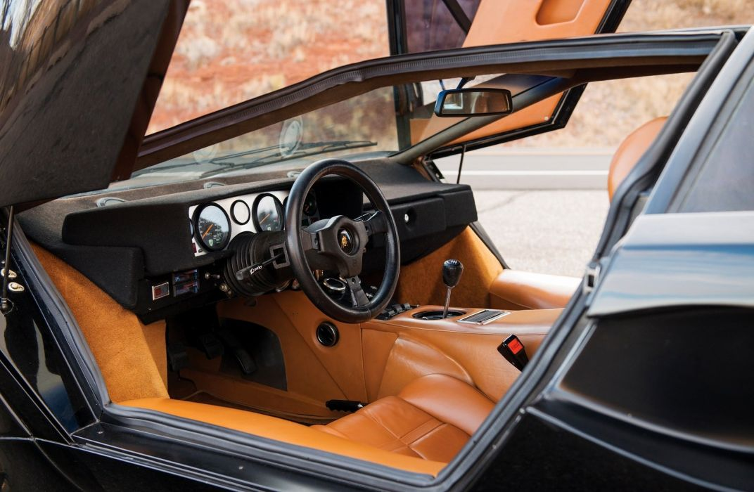 Lamborghini Countach LP400S cars supercars black 1978 wallpaper