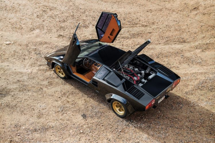 Lamborghini Countach LP400S cars supercars black 1978 wallpaper