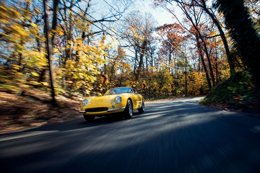 Ferrari 275 GTB (6C) Steel cars classic yellow 1965 wallpaper