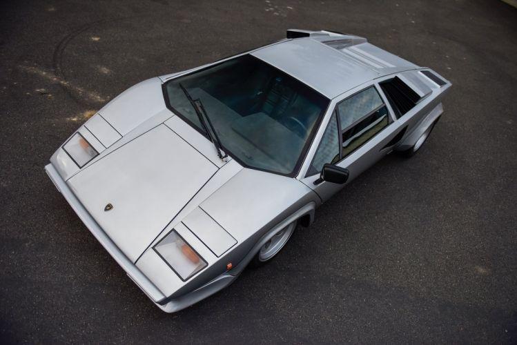 Lamborghini Countach LP400S silver cars 1979 wallpaper
