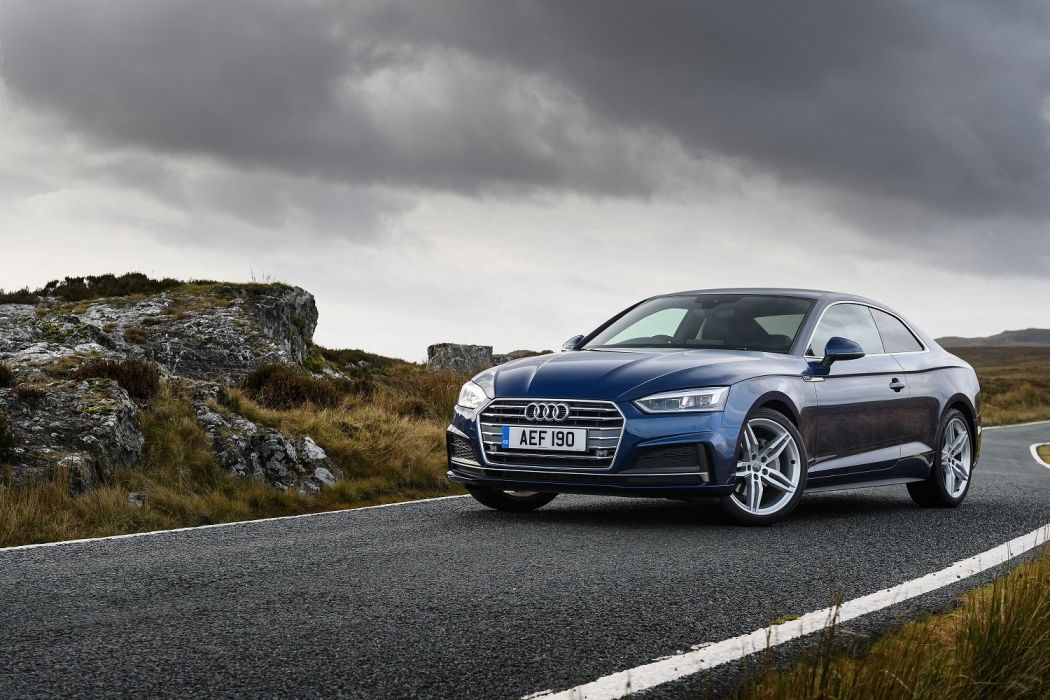 Audi (A5) Coupe TDI S-line UK-spec cars blue 2016 wallpaper