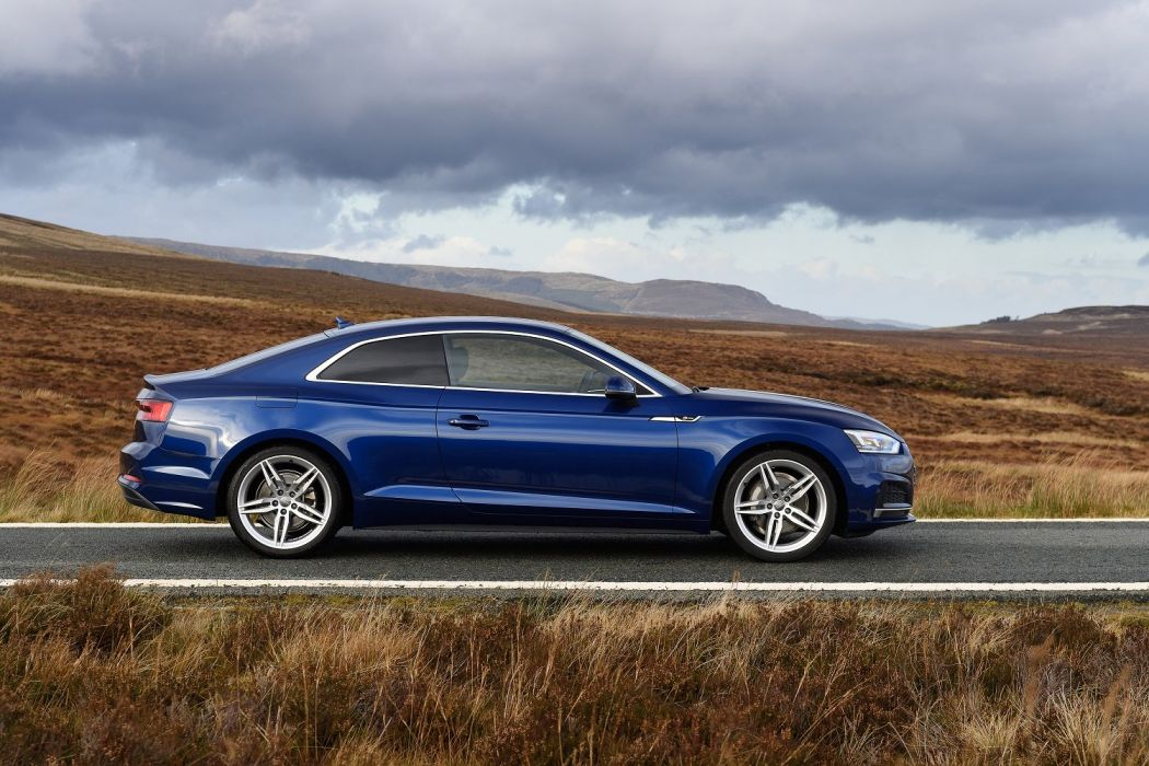 Audi (A5) Coupe TDI S-line UK-spec cars blue 2016 wallpaper