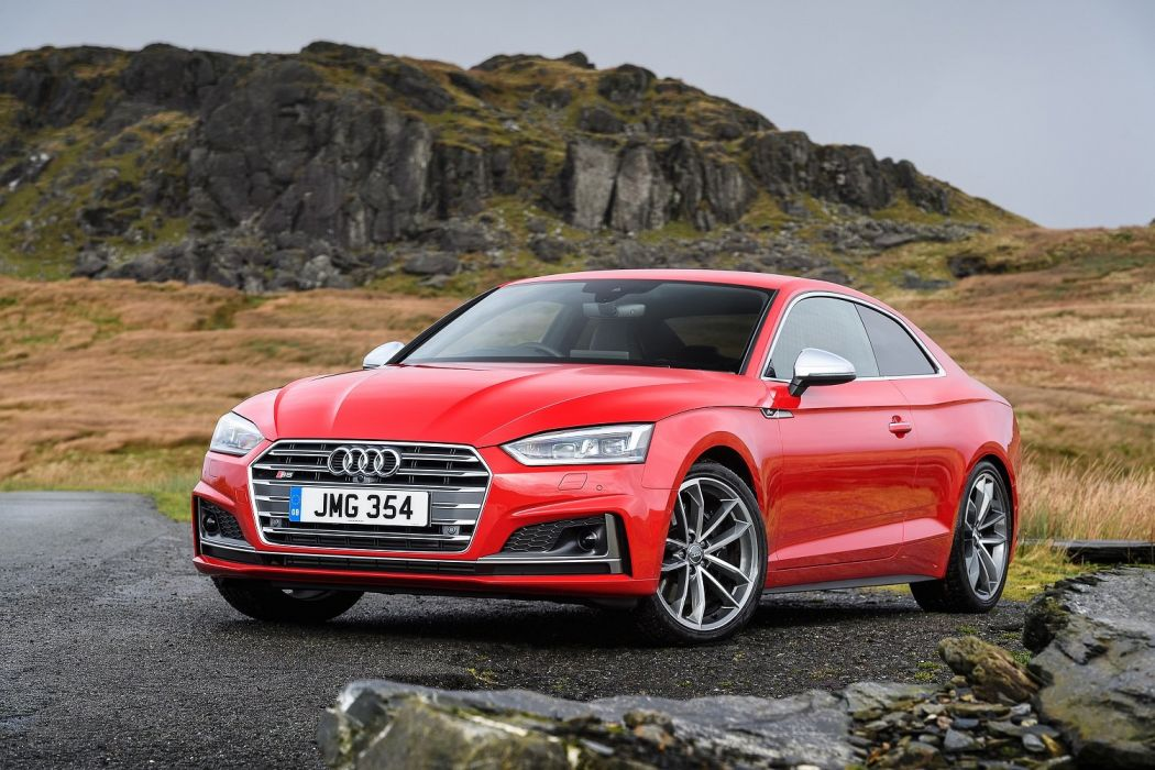 Audi (S5) Coupe cars red UK-spec 2016 wallpaper
