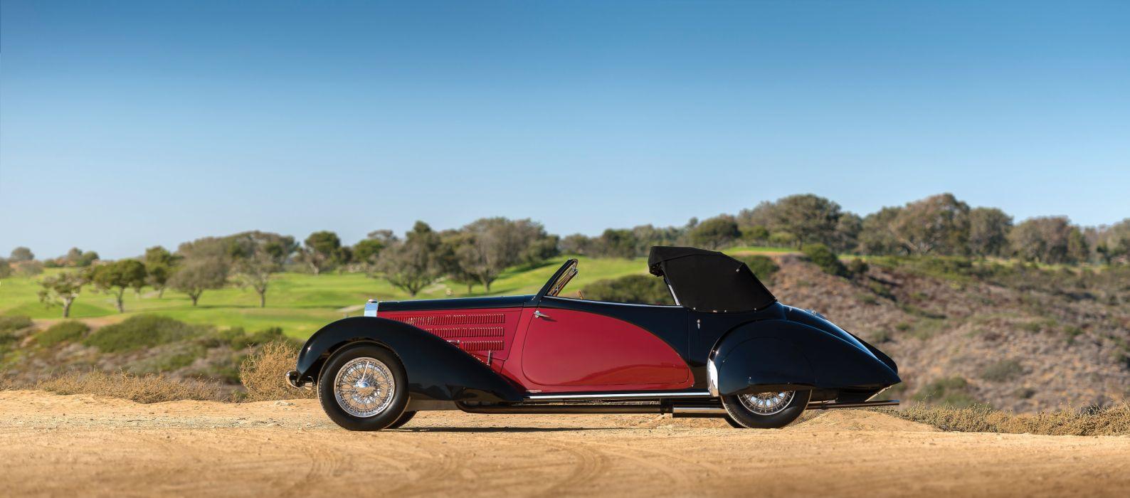 Bugatti Type 57S Drophead Coupe Letourneur Marchand cars classic 1939 wallpaper