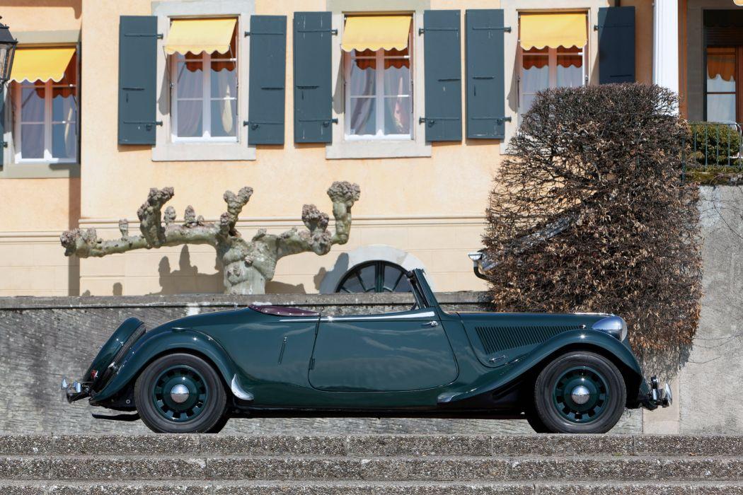 Citroen Traction Avant 15-Six (G) Cabriolet cars classic 1938 wallpaper