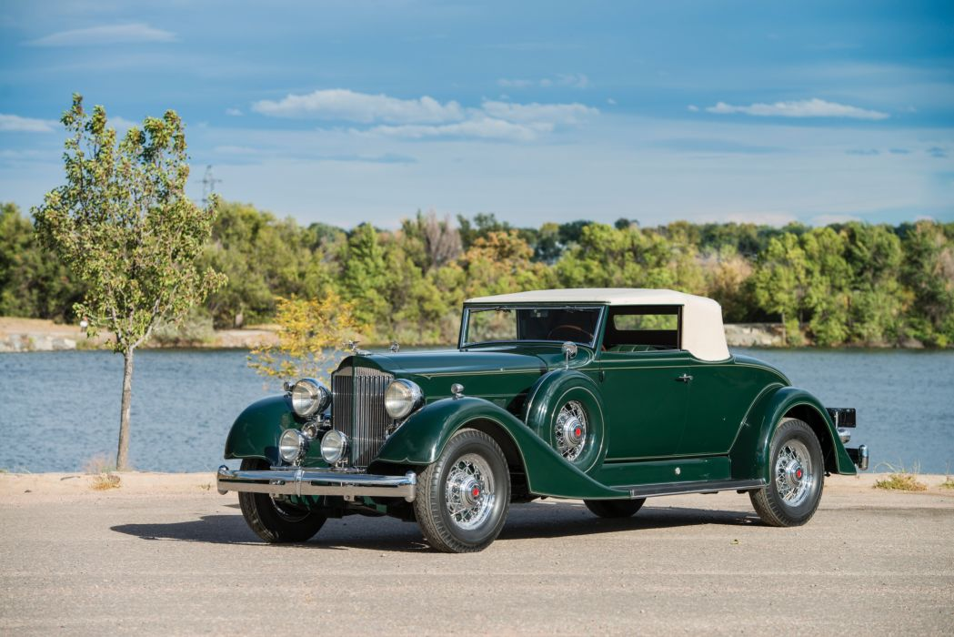 1934 Packard Super Eight Coupe Roadster cars retro  wallpaper