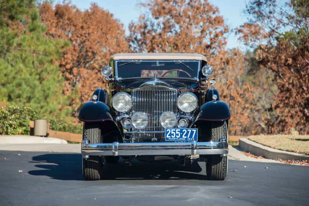 1933 Packard Twelve Convertible Victoria cars retro wallpaper
