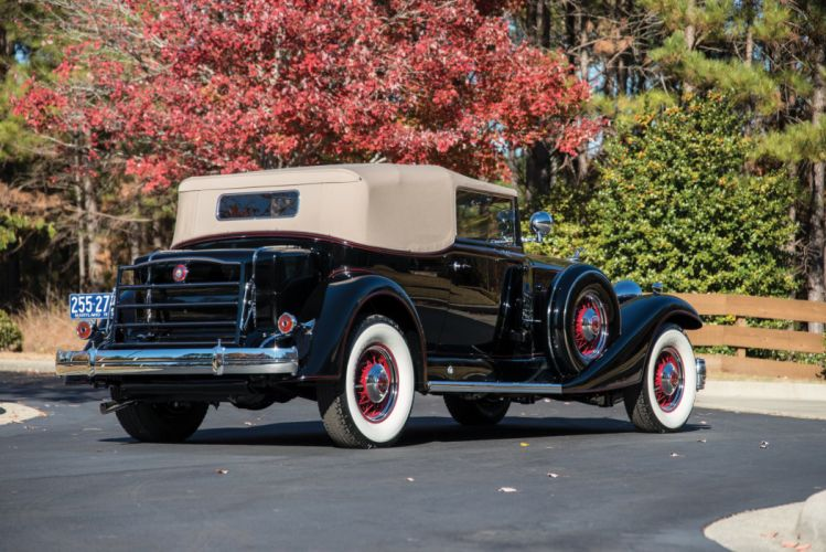 1933 Packard Twelve Convertible Victoria cars retro wallpaper