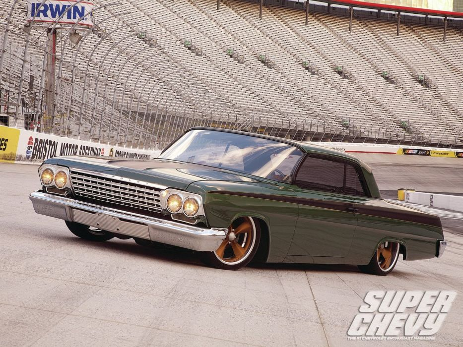 1962 chevrolet impala cars classic green wallpaper