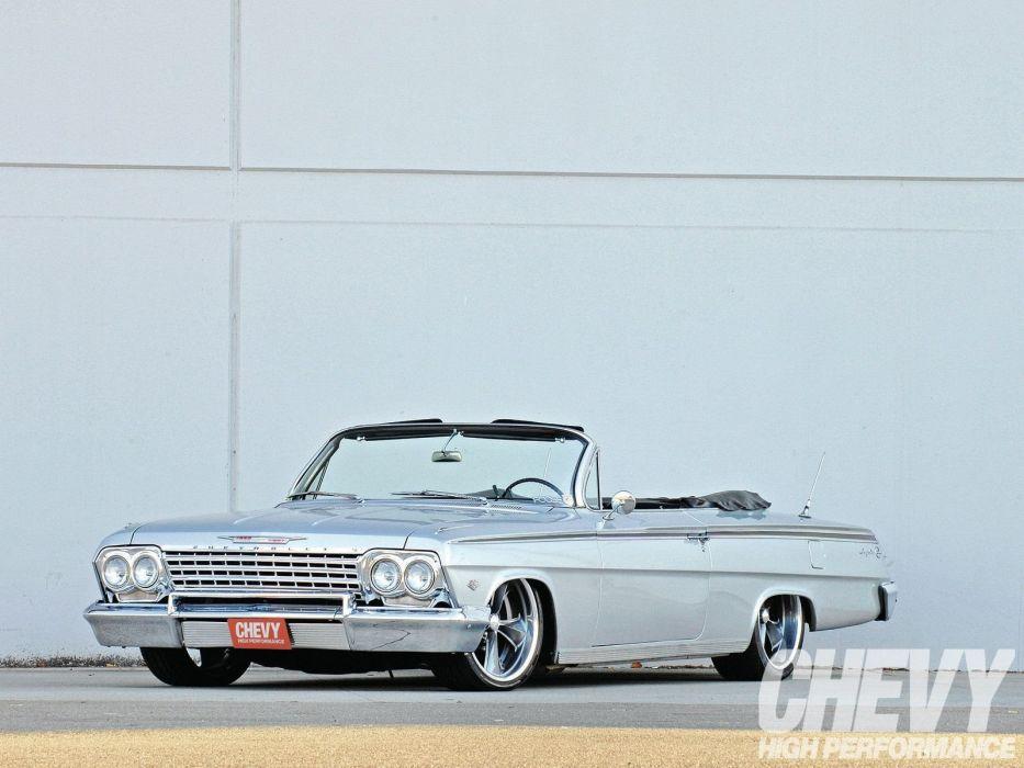 1962 chevrolet impala cars classic convertible wallpaper