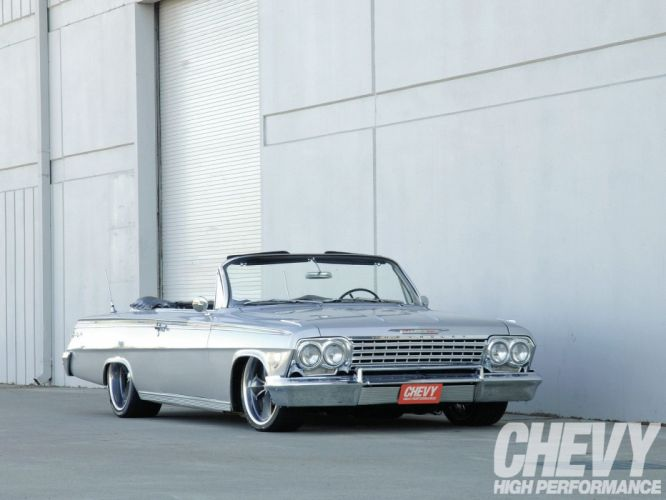 1962 chevrolet impala cars classic convertible wallpaper