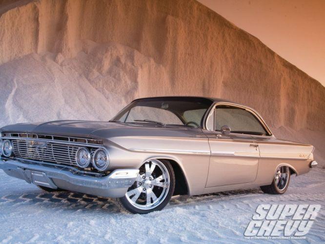 1961 chevrolet impala cars classic wallpaper
