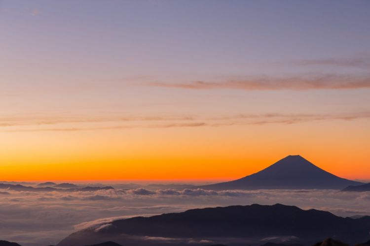 Kitadake Japan Mt Fuji Morning Glow Sunrise volcano wallpaper
