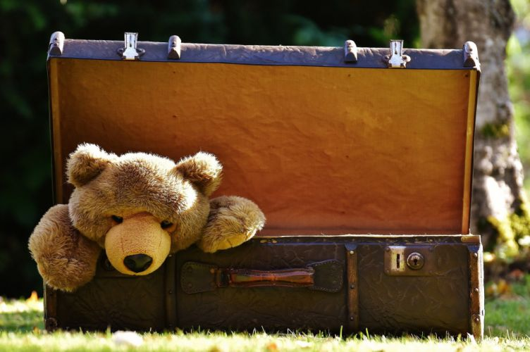 Luggage Antique Teddy Soft Toy Stuffed Animal Toys wallpaper