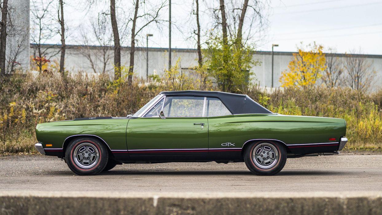 1969 PLYMOUTH HEMI GTX CONVERTIBLE cars green wallpaper
