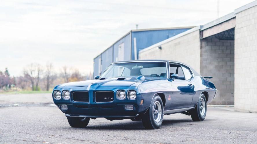 1970 PONTIAC GTO cars blue wallpaper