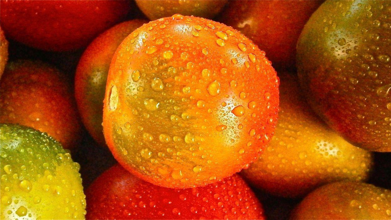 Fruit Tomato Vegetable Nature drops wallpaper