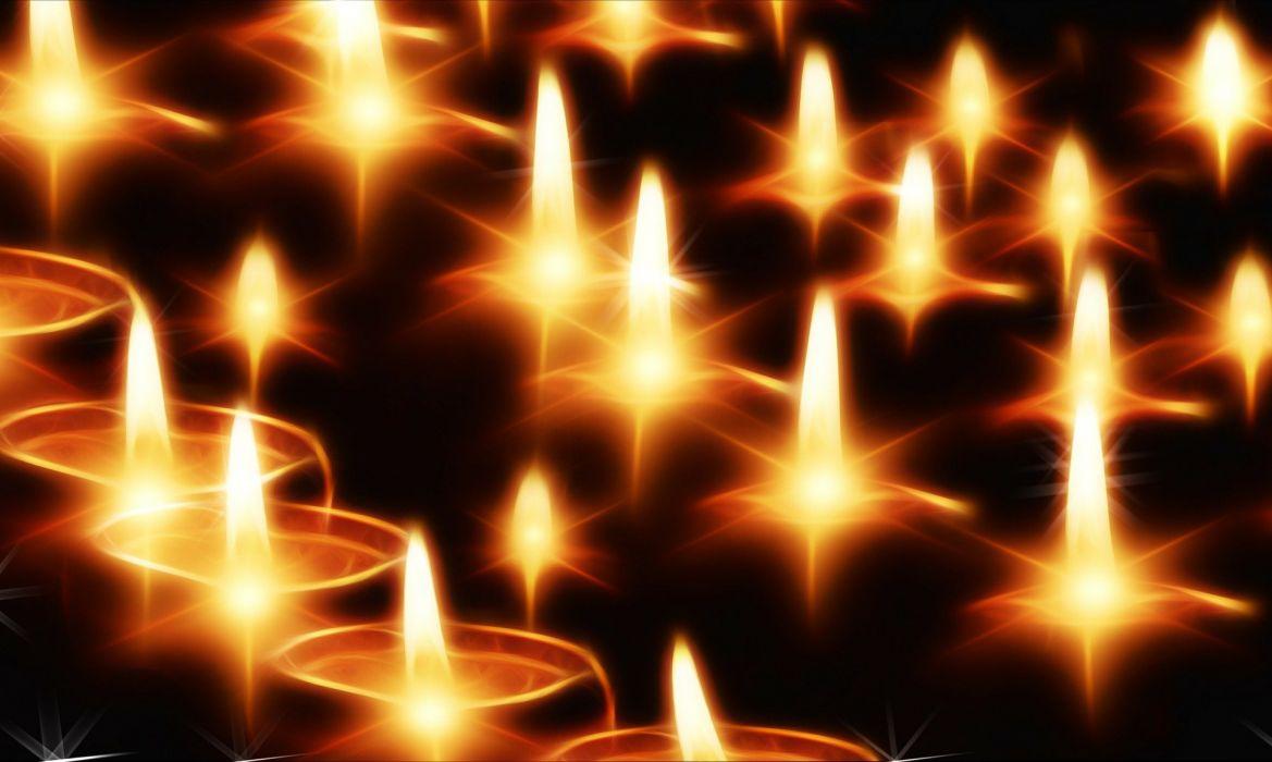 Candles Light Lights Evening Advent Christmas fractal wallpaper