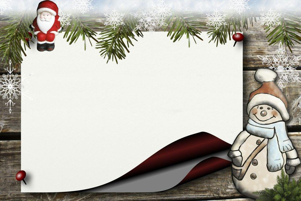 Bulletin Board Holly Santa Claus Snowman Paper wallpaper