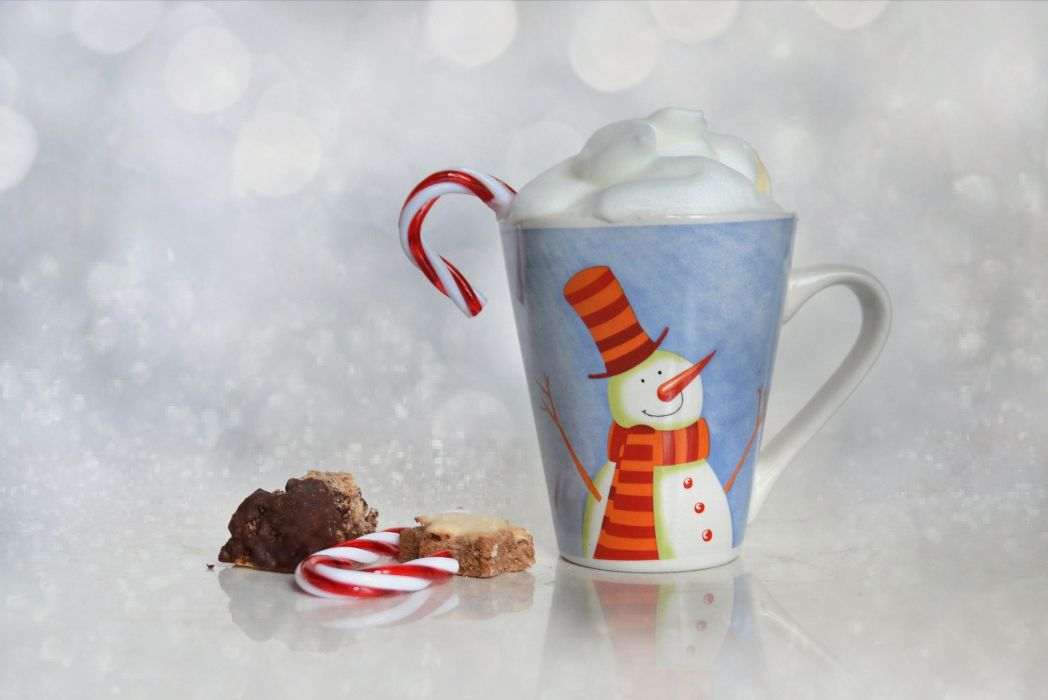 Christmas Cup Bokeh Pastries Coffee Confectionery wallpaper