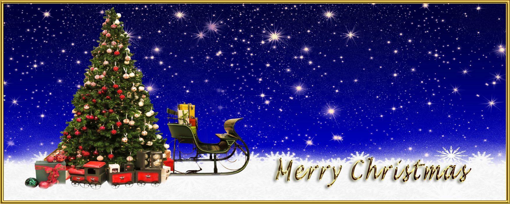 Christmas Merry Christmas Greeting Card wallpaper