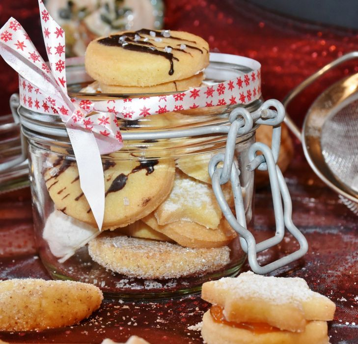 Cookie Christmas Cookies Cone Shape Crescents wallpaper