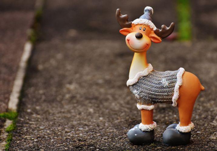 Moose Christmas Christmas Motif Reindeer Winter deer wallpaper