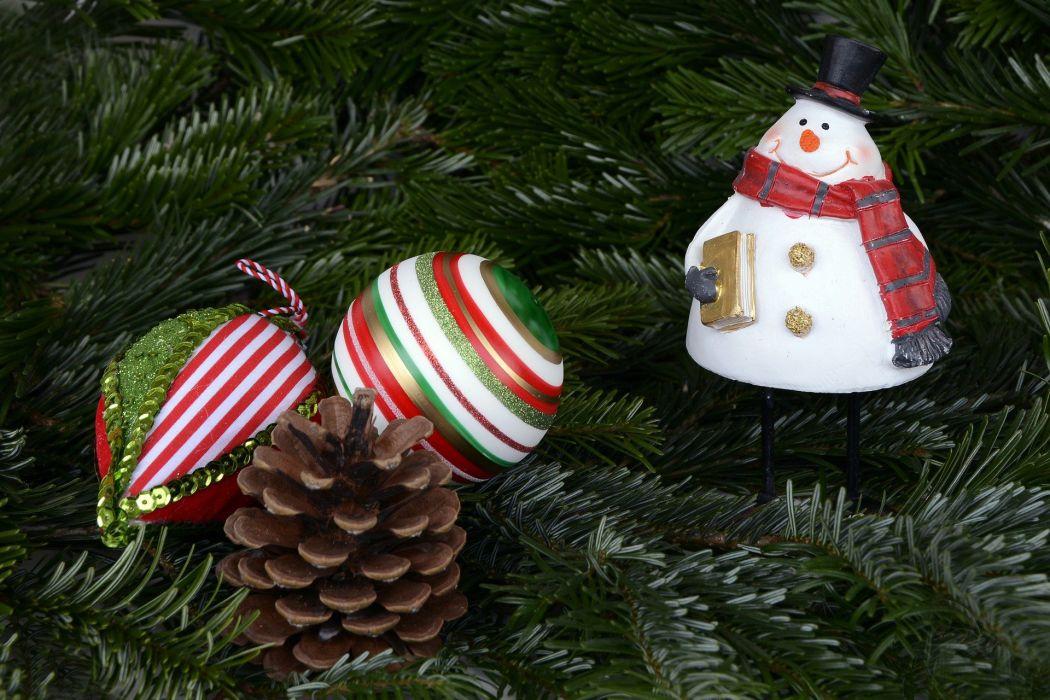 SnowMan Christmas Christmas Balls Balls Pine Cones g wallpaper