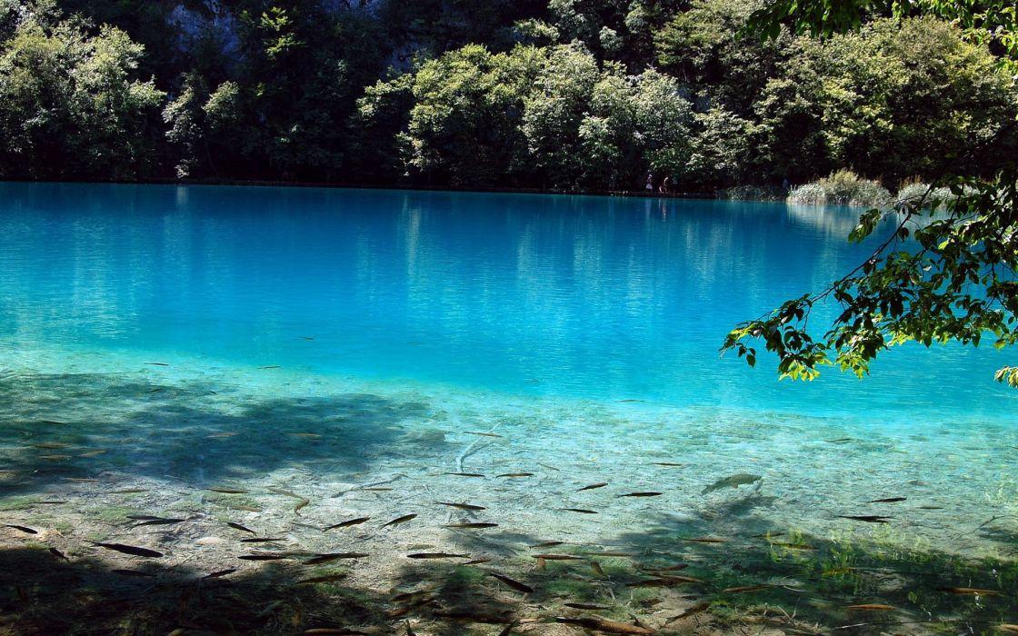 blue lake lake nature relaxing wallpaper