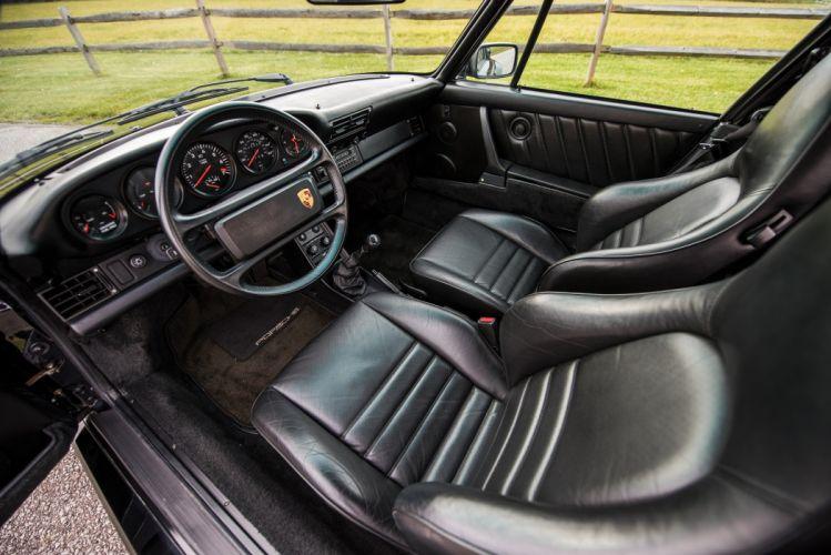 Porsche 911 Turbo Cabriolet Flachbau (930) cars black 1987 wallpaper