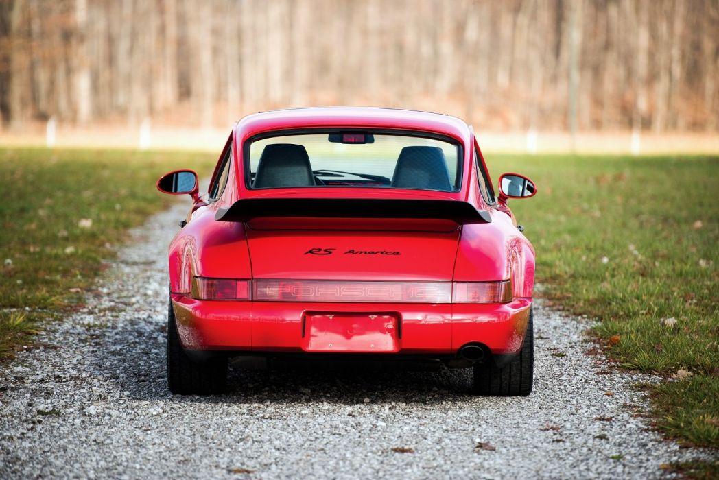 Porsche 911 Carrera (RS) America (964) cars red 1993 wallpaper