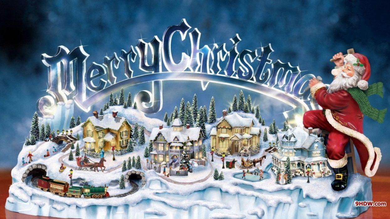 thomas-kinkade-christmas-town wallpaper