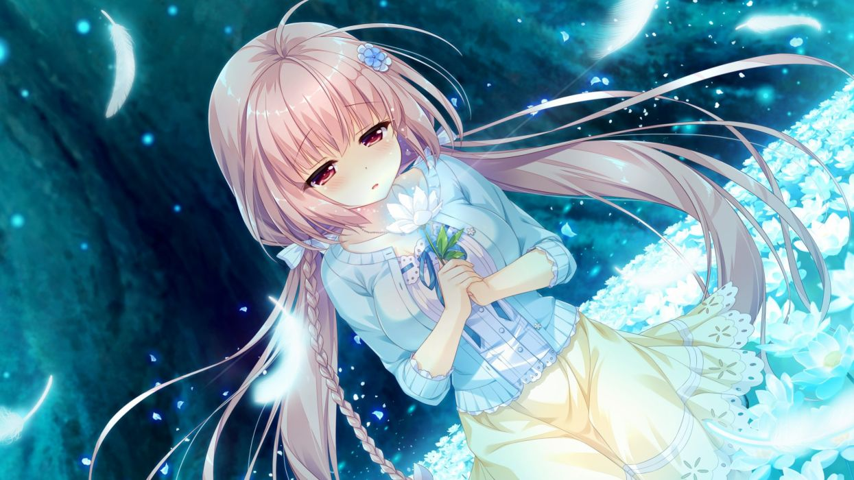 ame to yuki game cg haru (karenai sekai to owaru hana) karenai sekai to owaru hana sweet&tea wallpaper