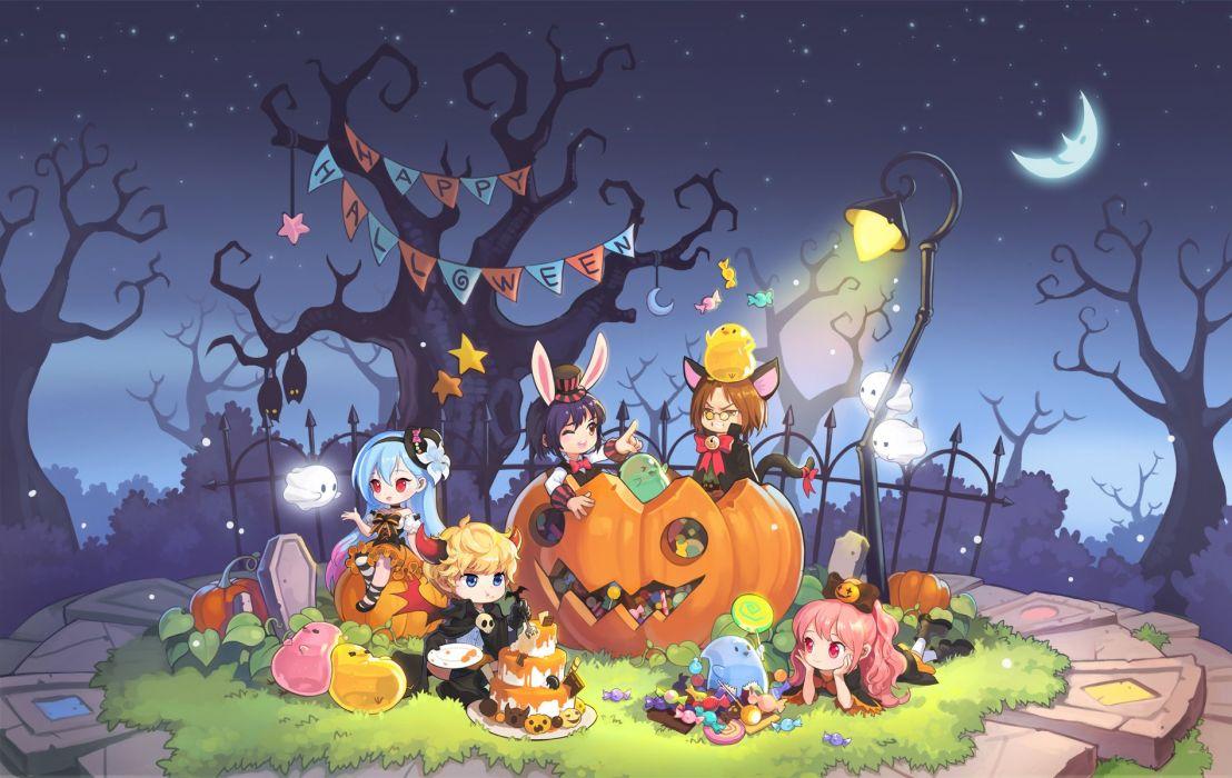 animal ears bunny ears candybox dress glasses halloween horns tail tales weaver wings wallpaper