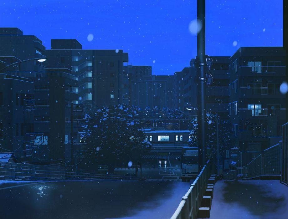 building car city nauimusuka nobody original scenic snow train wallpaper