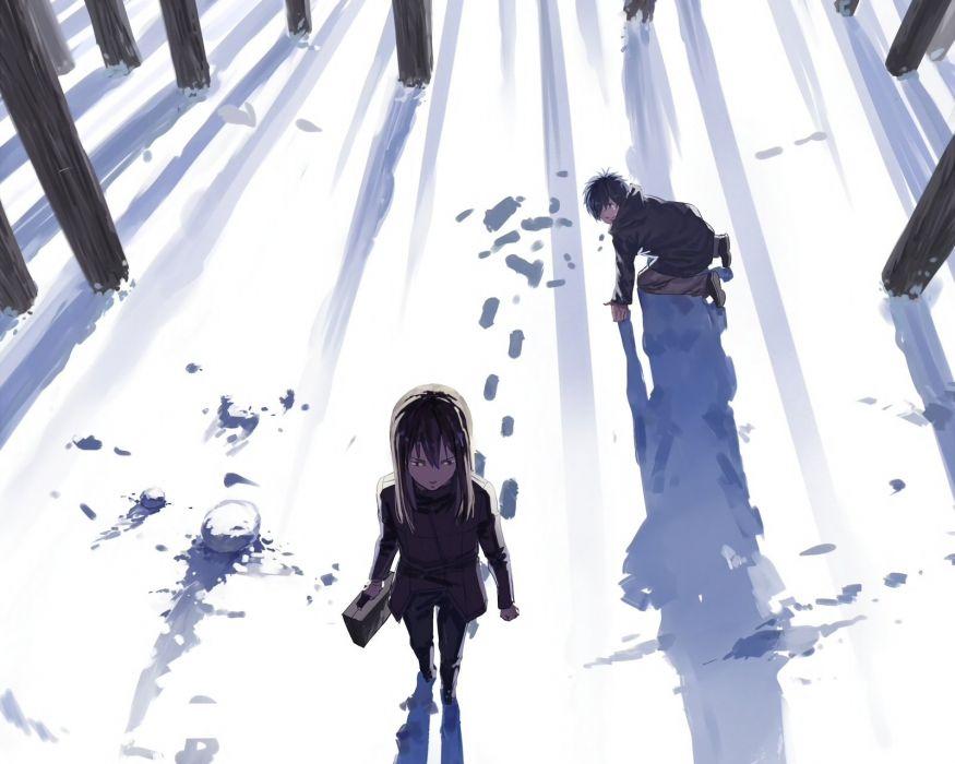 black hair cropped loglancer long hair male original short hair snow tears waifu2x wallpaper