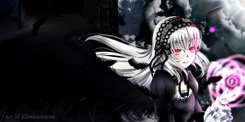 AliceKuroCross Rozen Maiden Suigintou Feather wallpaper