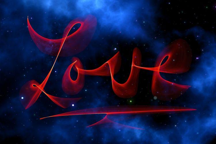 Universe Love Space Sky Valentine's Day Fantasy wallpaper