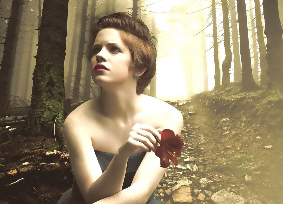 Fantasy Female Woman Portrait Dream Woman Portrait wallpaper