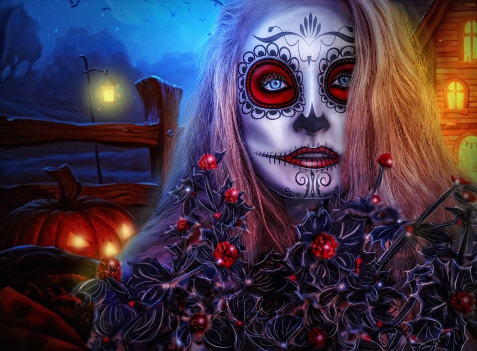 Halloween Girl All Saints ' Day Gothic Model wallpaper